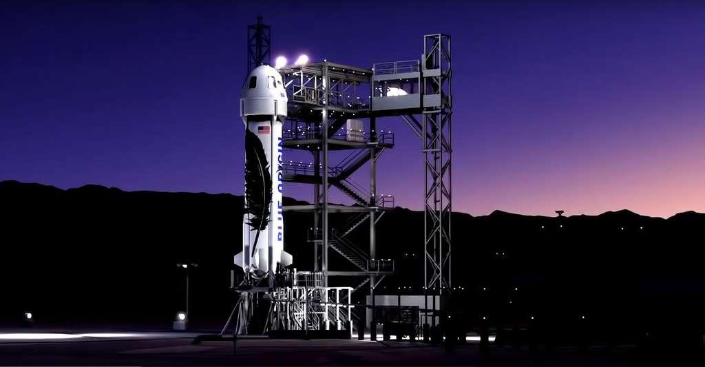 La capsule New Shepard de Blue Origin a réalisé des essais en vol en 2006 aux États-Unis. © Blue Origin
