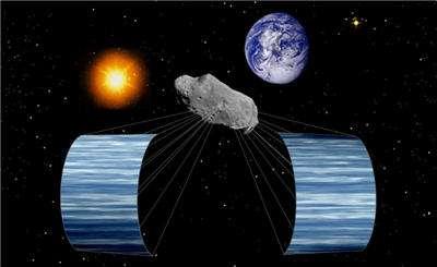 Des voiles solaires pour dévier un astéroïde. © DR