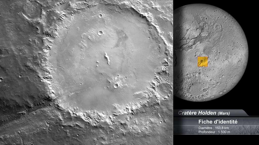 Le cratère Holden sur Mars