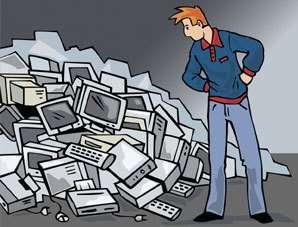 Que faire des vieux ordinateurs ? Techniquement, on sait récupérer tout ce qui s'y trouve, notamment les métaux dangereux. Financièrement et pratiquement, il fallait bâtir une filière. C'est chose faite. Crédit : Ademe.