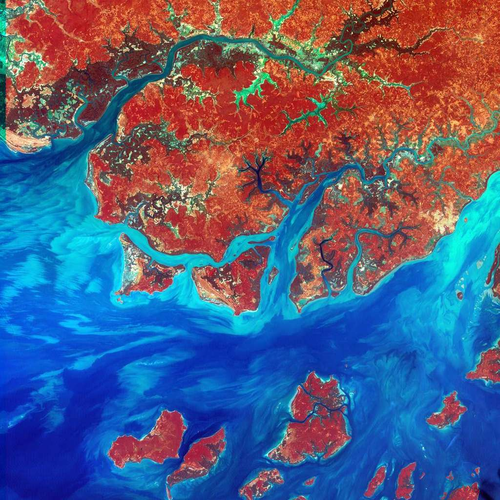 La Guinée-Bissau, en Afrique occidentale