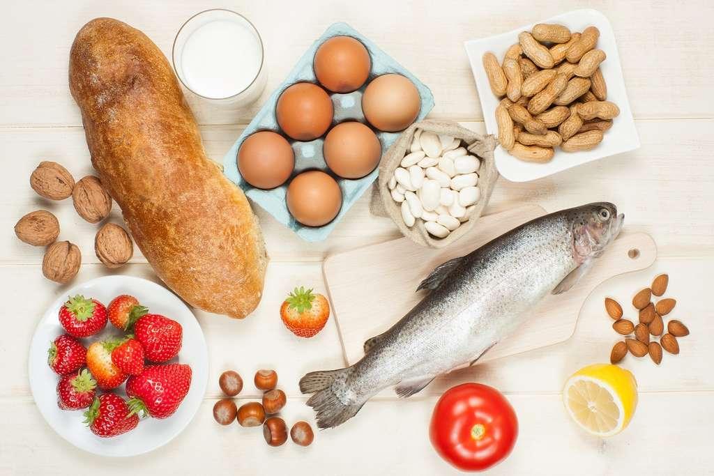 Blé, œufs, poisson, fruits à coques peuvent provoquer des allergies alimentaires. © Evan Lorne, Shutterstock