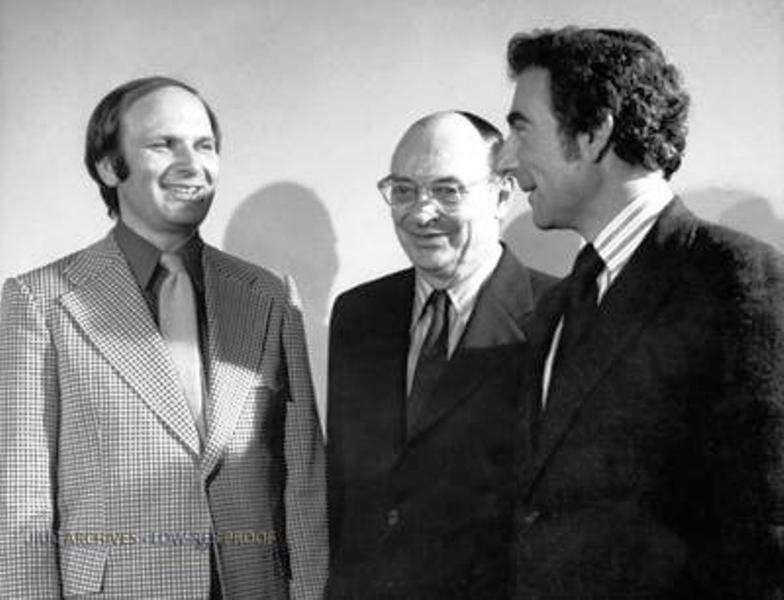 De gauche à droite, John Robert Schrieffer, John Bardeen et Leon Cooper, les auteurs de la théorie BCS. © University of Illinois