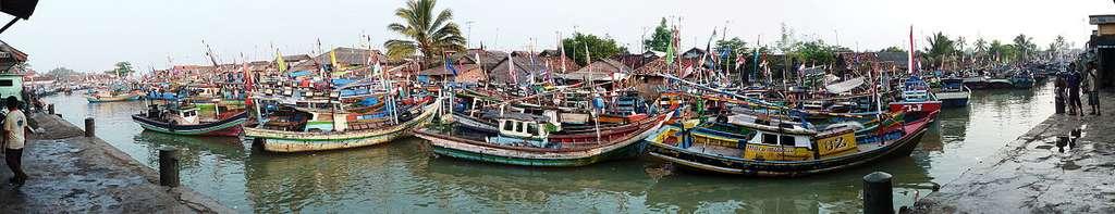 Le port de pêche de Labuan, Java, Indonésie. © Sémhur, wikimedia Commons, CC by-sa 3.0