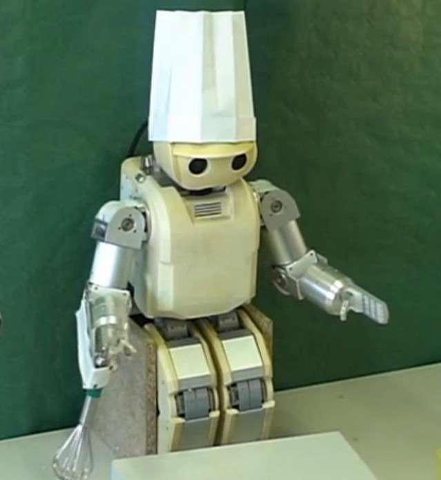 Hoap-3, un humanoïde de petite taille à qui on peut apprendre à faire la cuisine. © Lasa