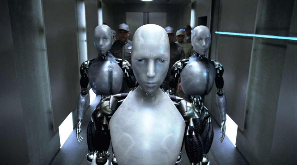 Photo extraite du film I, Robot d'Alex Proyas, dont le scénario est inspiré du recueil de nouvelles éponyme d'Isaac Asimov. © DR