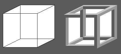 Cube de Necker. © Reproduction et utilisation interdites