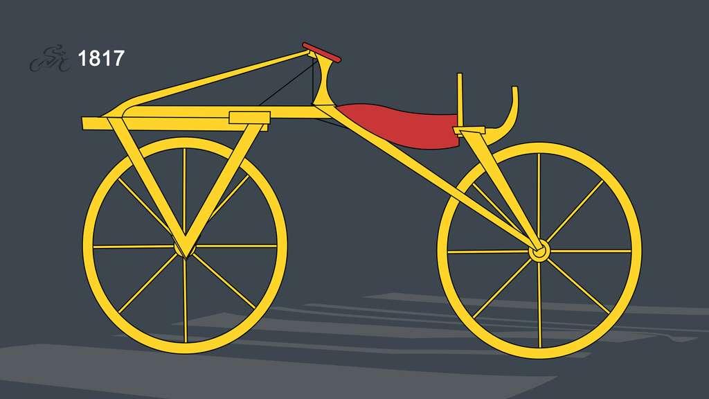 1817 : la draisienne ou vélocipède