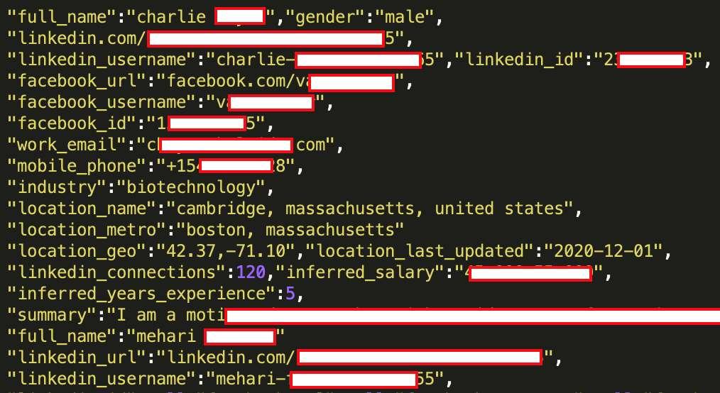 La base de données en vente comprend donc 700 millions d'adresses e-mail, de coordonnées de géolocalisation et de noms d'utilisateurs © RestorePrivacy