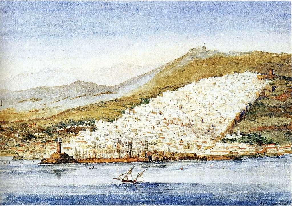 Ville d'Alger vers 1831, par Théodore Gudin, peintre de la Marine. © blog rymie.
