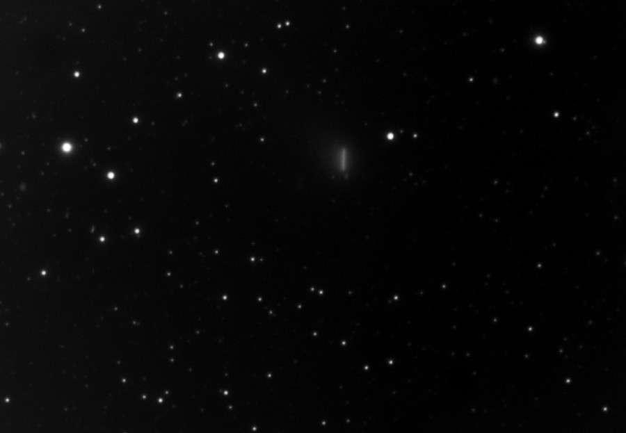 Déplacement de la comète Garradd le 11 août 2011 pendant 37 minutes. © R. Morisan