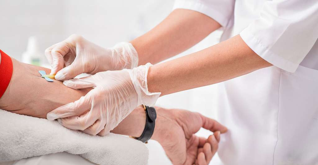 Comment se déroule le dépistage du diabète ? Ici, une prise de sang pour vérifier le taux de glycémie. © Olena Yakobchuk, Shutterstock
