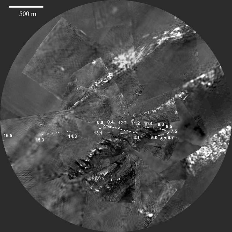 Panorama de Titan à 1,2 km
