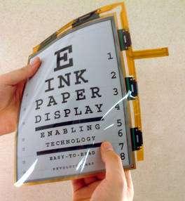 (Cliquer pour agrandir.) Ecran flexible exploitant la technologie E Ink. © E Ink