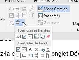 L'icône Outils hérités est disponible pour les documents Word enregistrés dans un autre format que .docx. © Futura-Sciences