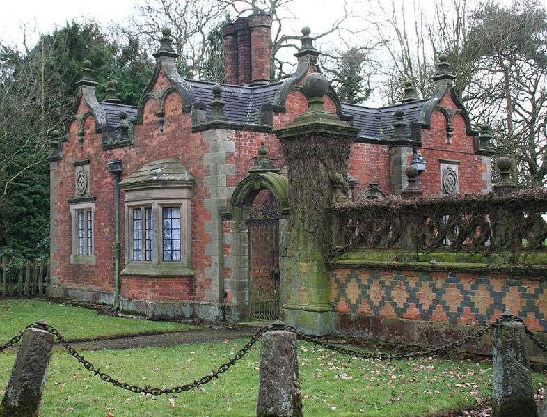 La « gate lodge » du Dorfold Hall, en Angleterre
