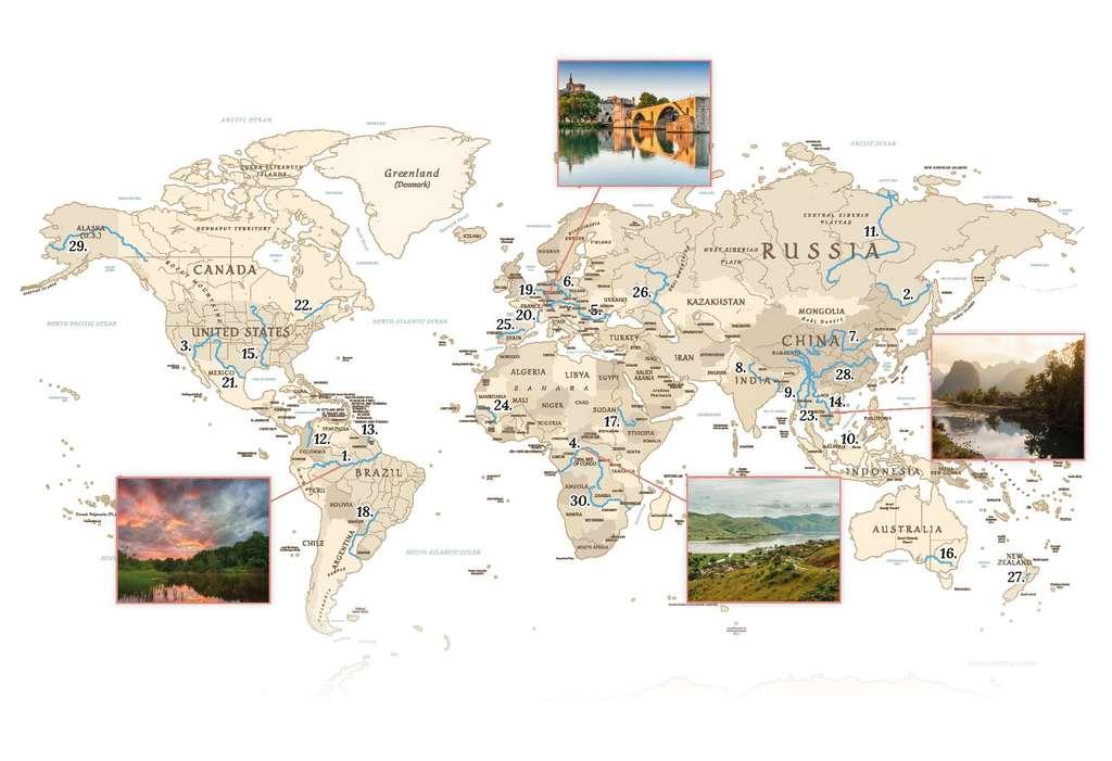 Vigilife effectue un suivi dans 30 fleuves sentinelles à travers le monde. © Vigilife