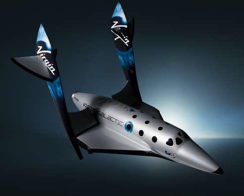 Le SpaceShipTwo est le projet d'avion de tourisme spatial le plus médiatisé. © Virgin Galactic