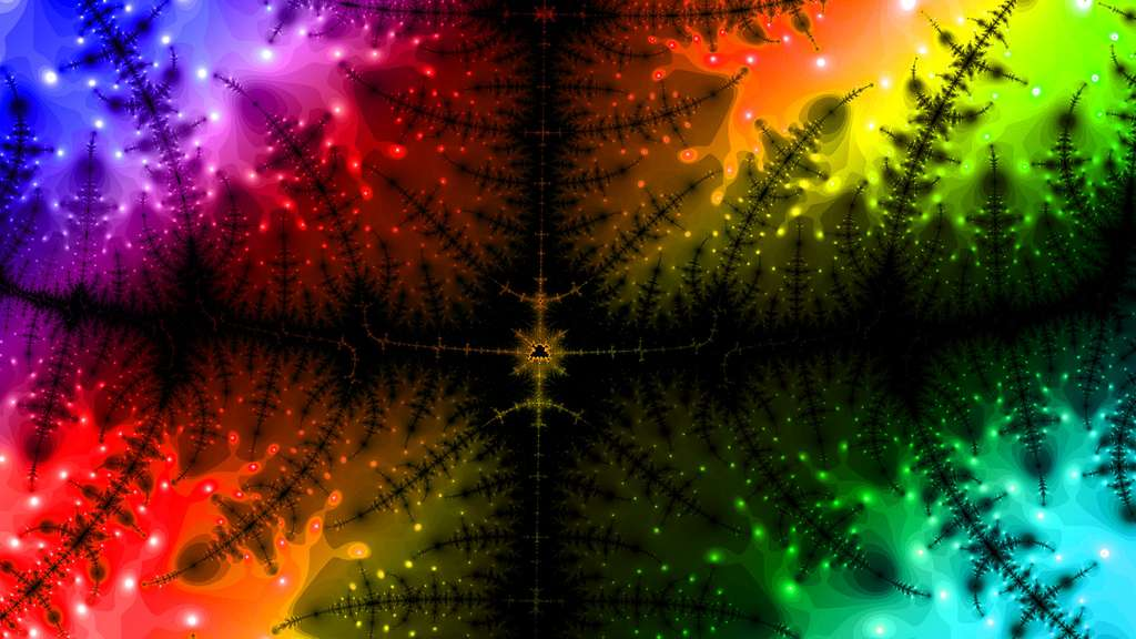 Image fractale psychédélique