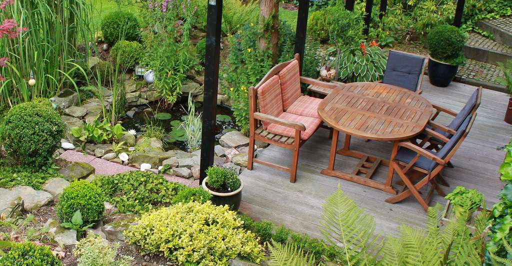 Conception d'une terrasse de jardin. © Cocoparisienne, Pixabay, DP