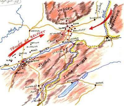 Trouée de Belfort - Schéma © Wikipedia