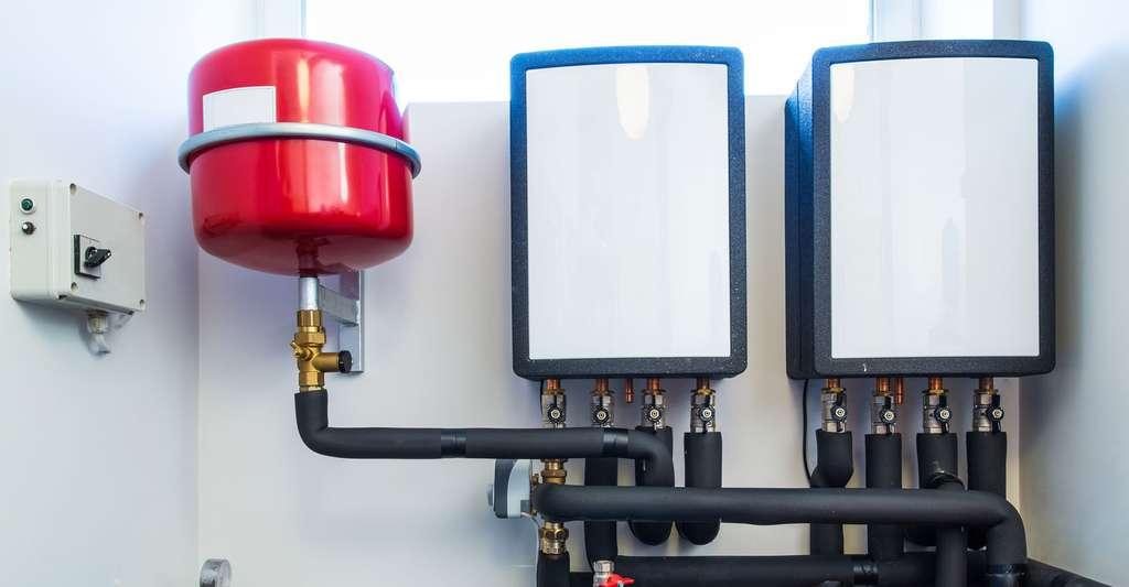 Pompe à chaleur eau glycolée-eau. © Alexxxey, Shutterstock