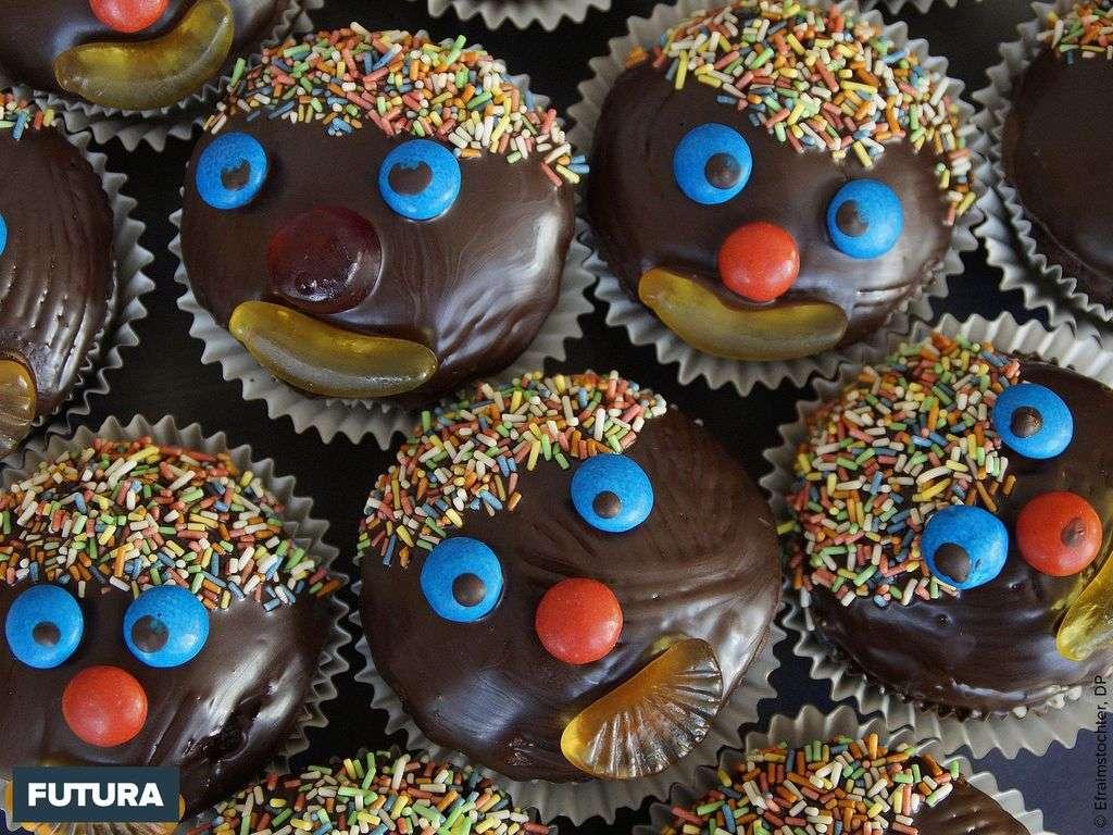 Muffins Clown au chocolat, apparus au pays de Galles aux alentours du XIe siècle.
