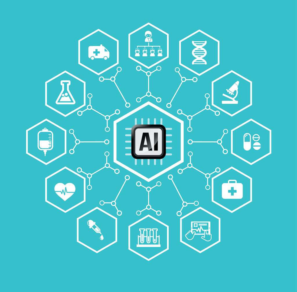 L'intelligence artificielle trouve de nombreuses applications dans le domaine de la santé. © Kaikoro, Adobe Stock