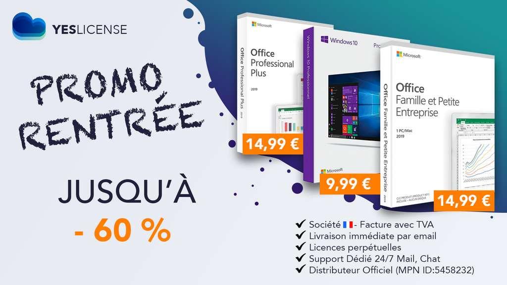 Des licences Microsoft à bas prix sont disponibles chez YESLICENCE, un revendeur français agréé par Microsoft. ©YESLICENCE