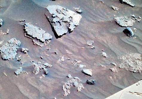 Rochers situés à proximité de Spirit, dans les Columbia Hills