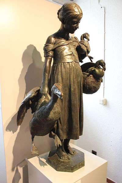 Statue originale de la « Lison aux oies » de Göttingen, en Allemagne. © Soenke Rahn, Wikipédia, cc by sa 3.0