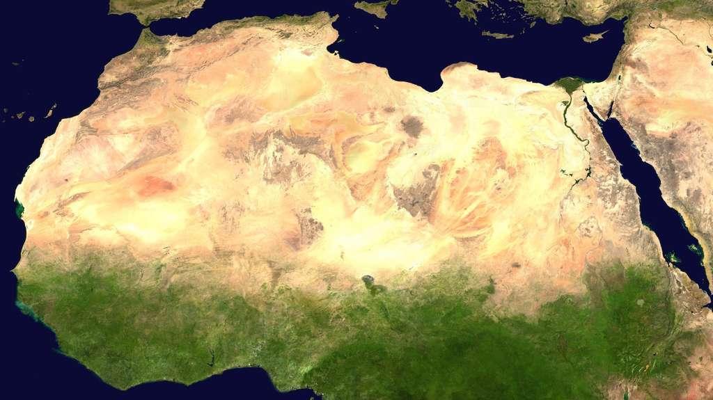 Le Sahara est le troisième plus grand désert au monde et le plus grand désert chaud. © Nasa