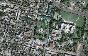 Le même quartier après le séisme, vu par le satellite GeoEye-1. © GeoEye