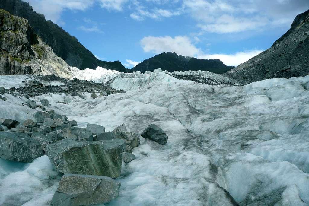 Vue sur le glacier Fox, sur la côte ouest de l'île du Sud, en Nouvelle-Zélande. © Bruno Cédat