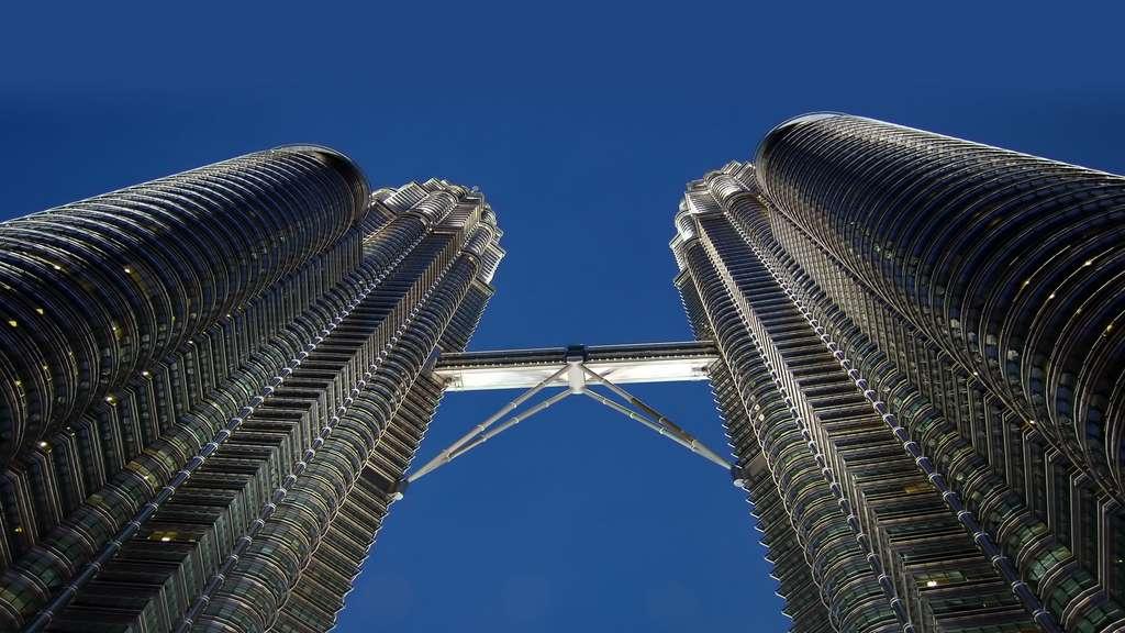 La passerelle des tours Petronas, à Kuala Lumpur
