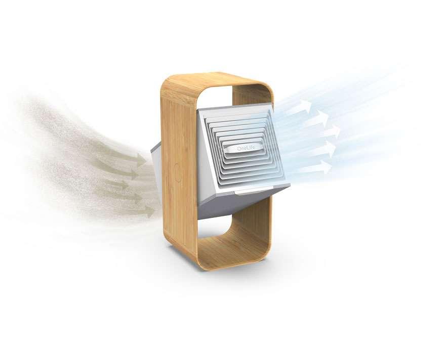 Le OneLife X est en bambou et utilise un filtre lavable. © OneLife