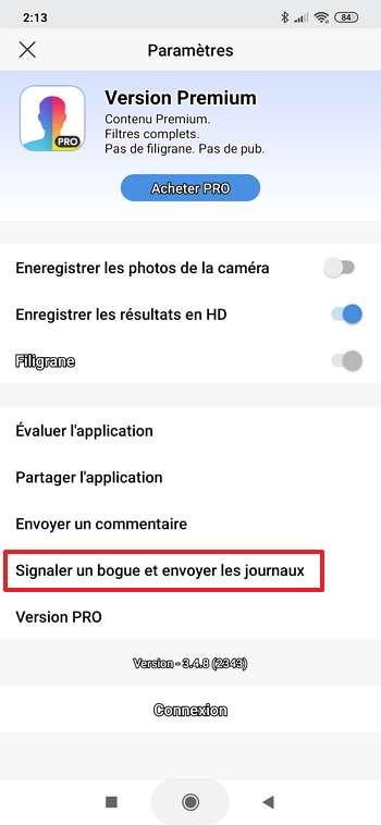 Il faut se rendre dans les paramètres pour faire une demande de suppression de ses photos. © FaceApp Inc