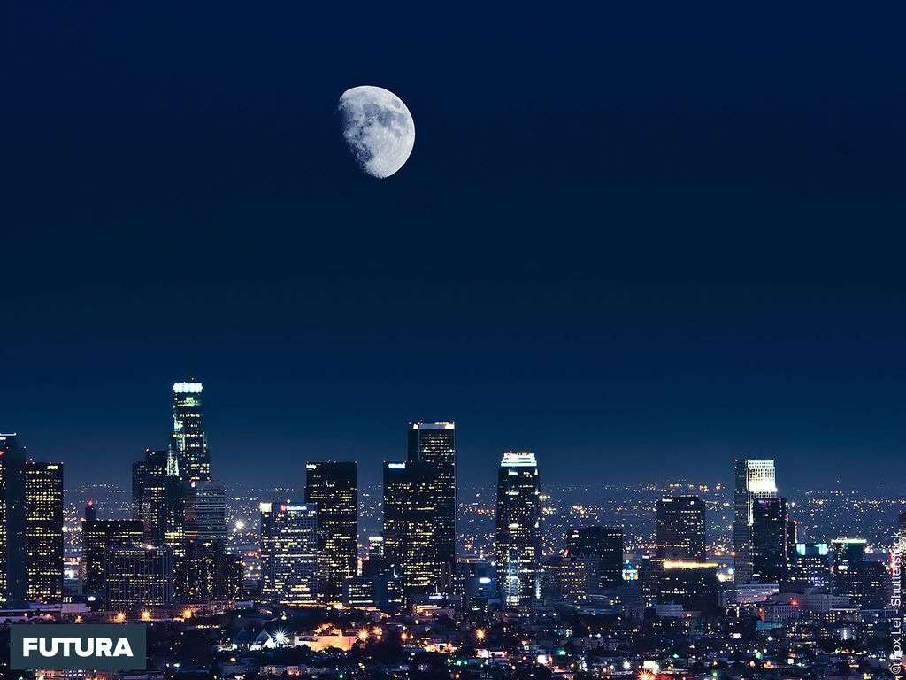 Vue de nuit de Los Angeles USA