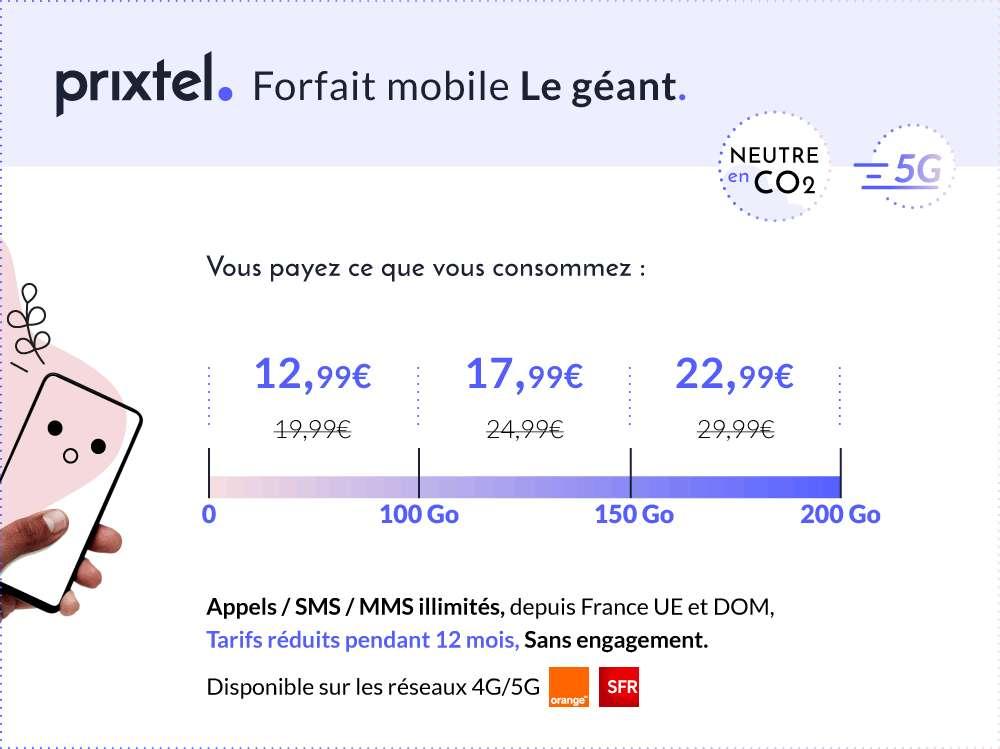 Forfait Le géant en détail © Prixtel