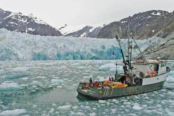 Des chercheurs ont étudié le glacier LeConte, en Alaska (États-Unis) afin d'en apprendre plus sur sa vitesse de fonte. © Dave Sutherland, Université de l'Oregon
