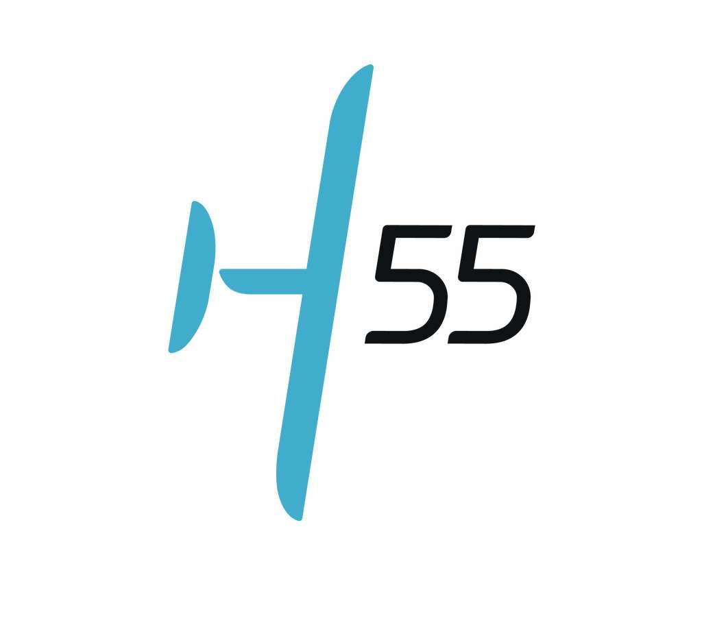 Le logo d'H55, le spin-off de Solar Impulse. © H55