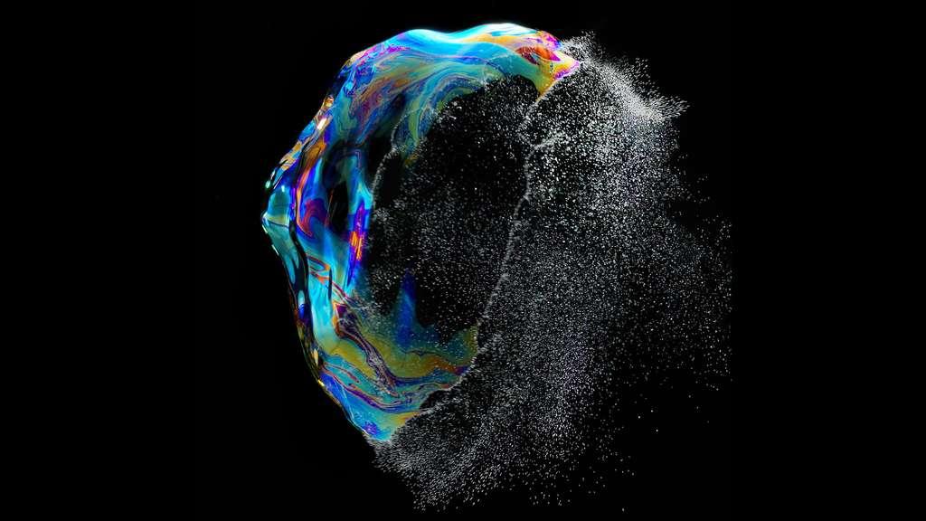 Explosion d'une bulle de savon