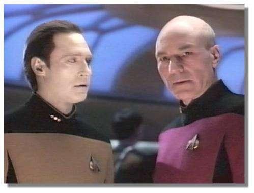 Data et le capitaine Picard (TNG)