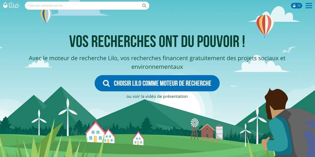 Lilo permet de transformer les revenus tirés de la publicité en argent reversé à des projets solidaires. © Lilo SAS