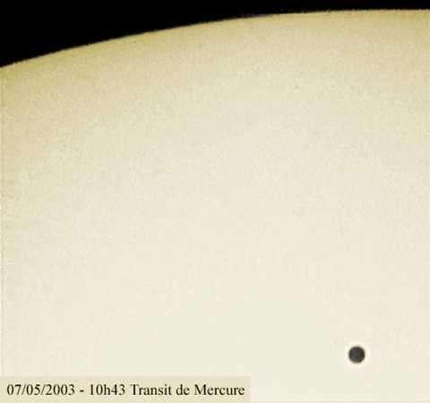 Transit de Mercure - 07 Mai 2003
