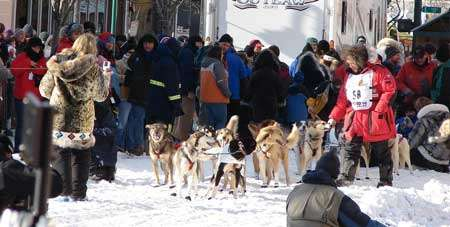 Départ Iditarod 2008, Downtown - Anchorage. © Ecorsberg, Flickr, Creative Common, CC by-nc-sa 2.0