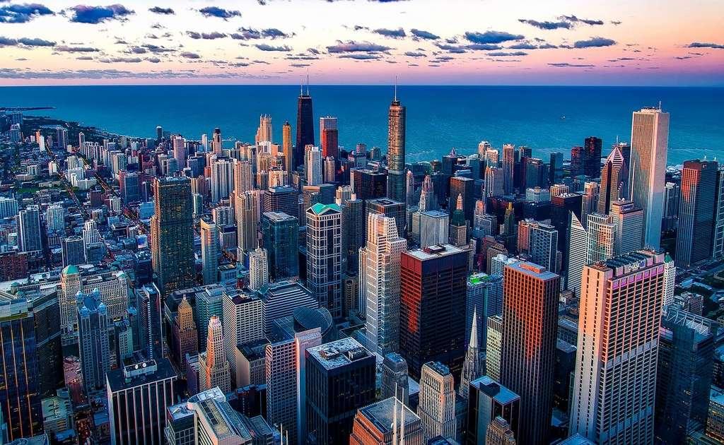Vue aérienne de Chicago, Illinois. © 12019/12059, Pixabay, DP