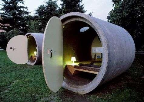 La canalisation reconvertie en chambre. Romantique ! © Dasparkhotel/Concept : Andreas Strauss
