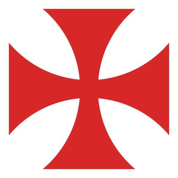 La croix de l'ordre des Templiers, apparaissant pour la première fois vers 1139, représente la chrétienté ; sa couleur rouge, le sang versé par le Christ lors de la crucifixion. © Liberal Freemason, Wikipédia, DP
