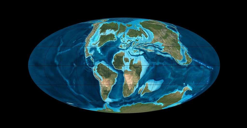 Répartition des différents continents à la fin du Crétacé. © Ron Blakey, NAU Geology, cc by sa 3.0